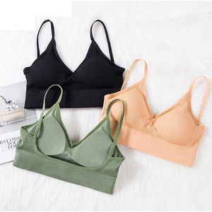The Comfy Cotton Push Up Wireless Padded Seamless Backless Bralette Bras Milay Store