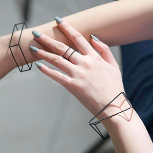 The 3D Ultra Contemporary Fashion Jewelry Geometric Polygon Bangle Cuffs and Rings Collection Bangles Cos Store