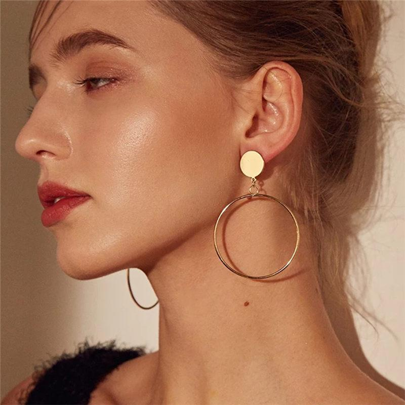 Loopy for Hoops Big Round Hollow Geometric Earrings Collection Drop Earrings ZSC JEWLRY & ACCESSORIES