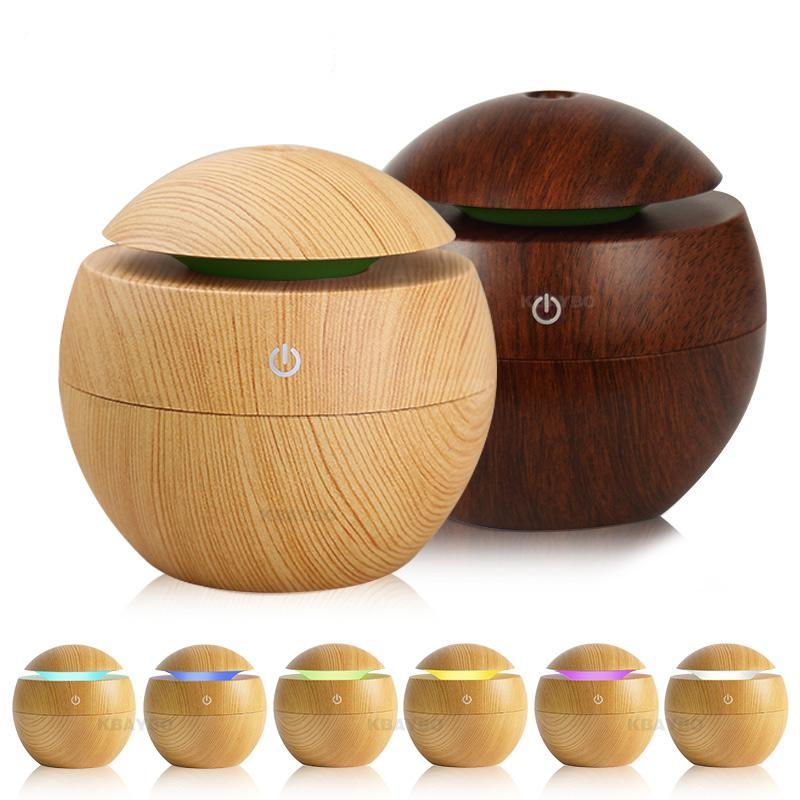 The Eco-Friendly Triple Wow USB Essential Oil Aroma Diffuser, Ultrasonic Cool Mist Air Purifier Humidifier, AND 7 LED Colour Changing Night Light Ball of Wonder - HABIT