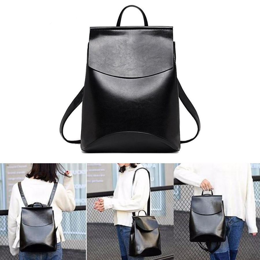 The Ultimate Minimal School Backpack Shoulder Bag Backpacks Zocilor Official Store Black