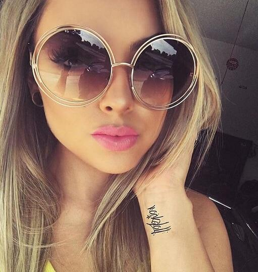 The Classic Retro Over Oversized Glasses Round Circle Stainless Steel Frame Mirror Sunglasses Women's Sunglasses SHENZHEN BO SHI TONG
