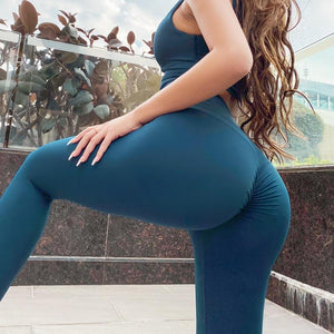 The Naked Feeling Scrunch Butt Deep V Booty High-Waisted Gym Yoga Workout Leggings Yoga Pants hearuisavy Official Store