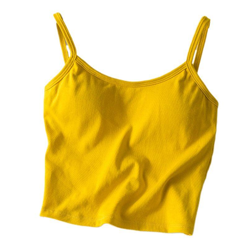 The Irresistible Twisty Knot Backless Padded Camisole Top Camis Wonder Bag Store Sunflower Yellow