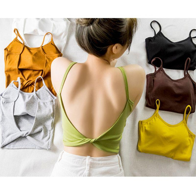 The Irresistible Twisty Knot Backless Padded Camisole Top Camis Wonder Bag Store