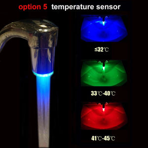 The Futuristic Eco-Friendly LED Temperature Sensor Colour Changing Water Saving Faucet Light Aerators ZhangJiHome Store