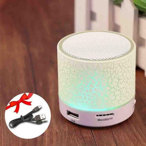 The LED Disco Portable Mini Bluetooth Wireless Speaker Portable Speakers GETIHU Official Store White