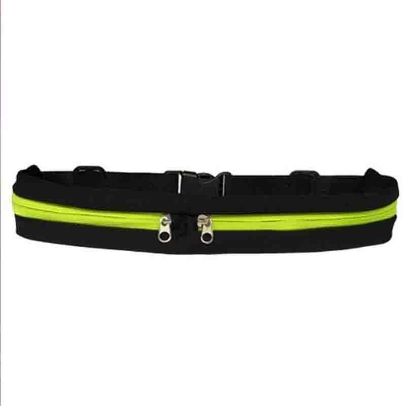 The Double Pocket WATERPROOF Sports Belt Bag Waist Packs McKovic Store Yellow