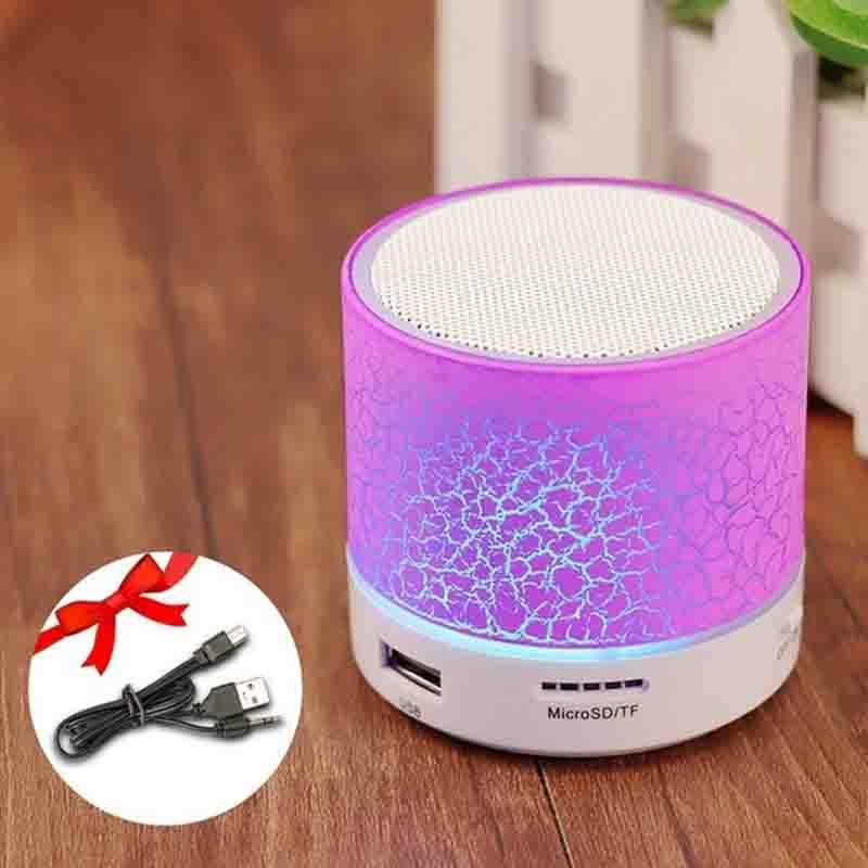 The LED Disco Portable Mini Bluetooth Wireless Speaker Portable Speakers GETIHU Official Store Pink