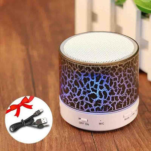 The LED Disco Portable Mini Bluetooth Wireless Speaker Portable Speakers GETIHU Official Store Purple