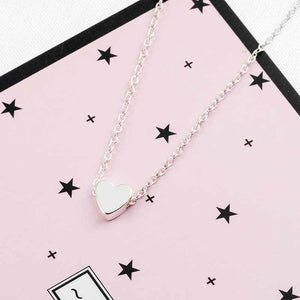 The Teeny Tiny Little Shining Hearts Stars Holding Big Love Choker Necklaces Pendant Necklaces AILEND Official Store Tiny Silver Heart