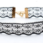 The Minimalist Old France Sexy Collier Lace Flower Elastic Vintage Choker Necklaces Collection Choker Necklaces QBH Jewelry Co.,Ltd min order $1