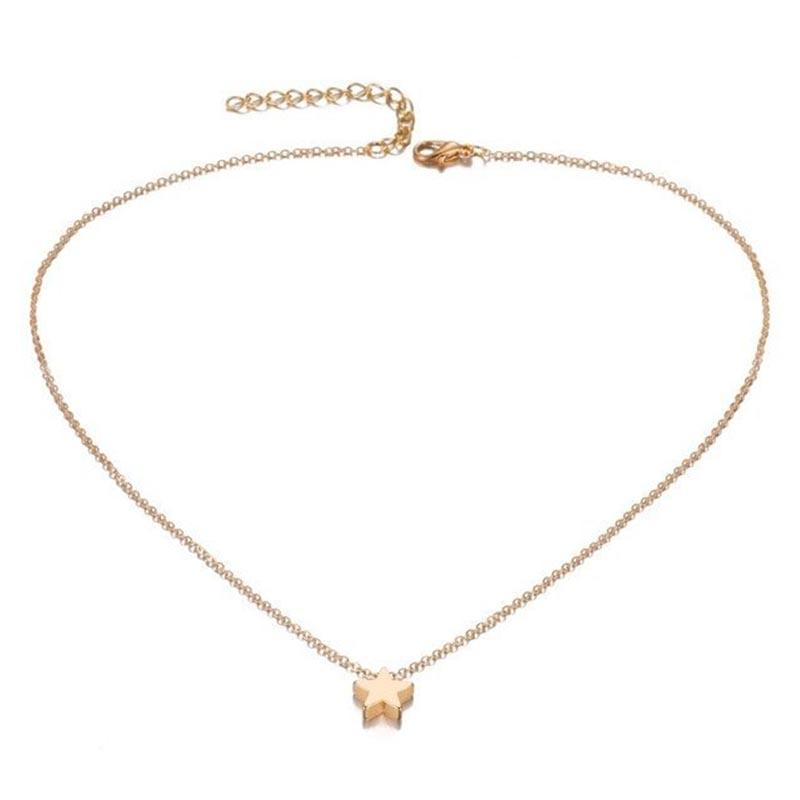 The Tiny Wish Upon A Star Bijoux Collares Mujer Choker Necklace - HABIT
