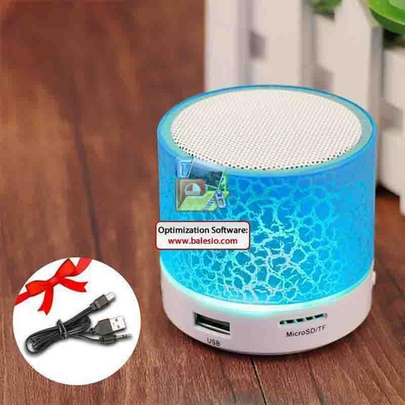 The LED Disco Portable Mini Bluetooth Wireless Speaker Portable Speakers GETIHU Official Store Light Blue