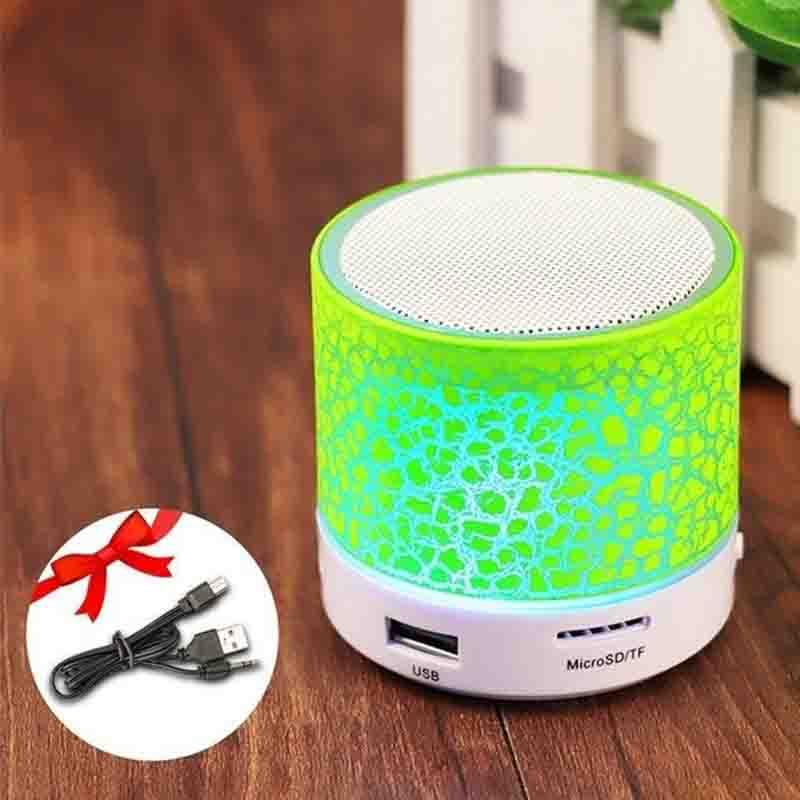 The LED Disco Portable Mini Bluetooth Wireless Speaker Portable Speakers GETIHU Official Store Green