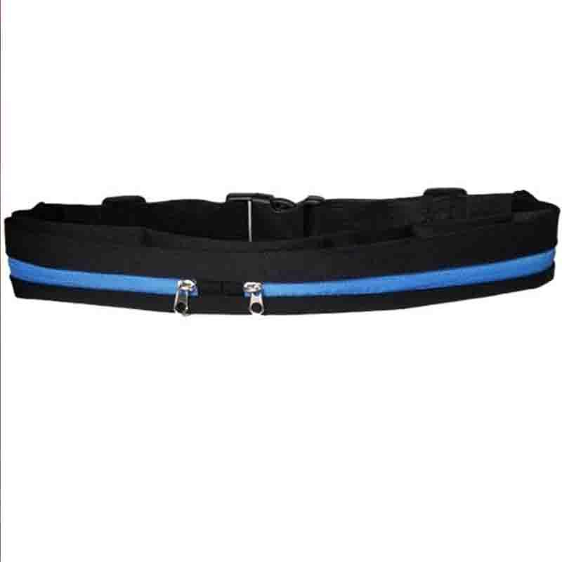 The Double Pocket WATERPROOF Sports Belt Bag Waist Packs McKovic Store Blue