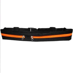 The Double Pocket WATERPROOF Sports Belt Bag Waist Packs McKovic Store Orange
