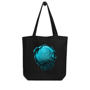 Eco Tote Bag - Ice Cream Ball FIGHT - Blue Mint Winter Wonderland HABIT Black