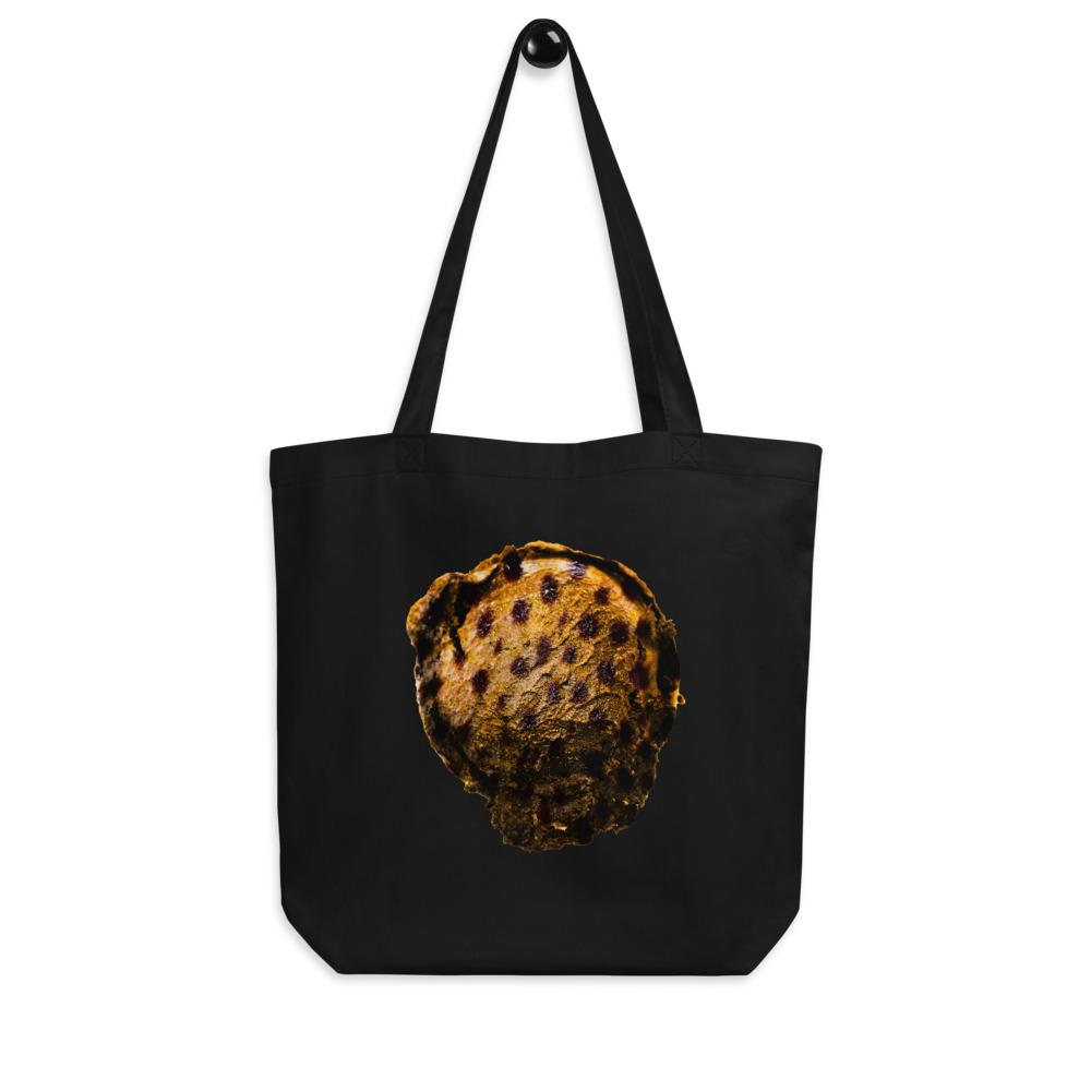 Eco Tote Bag - Ice Cream Ball FIGHT - Cheetah Cookie HABIT Black