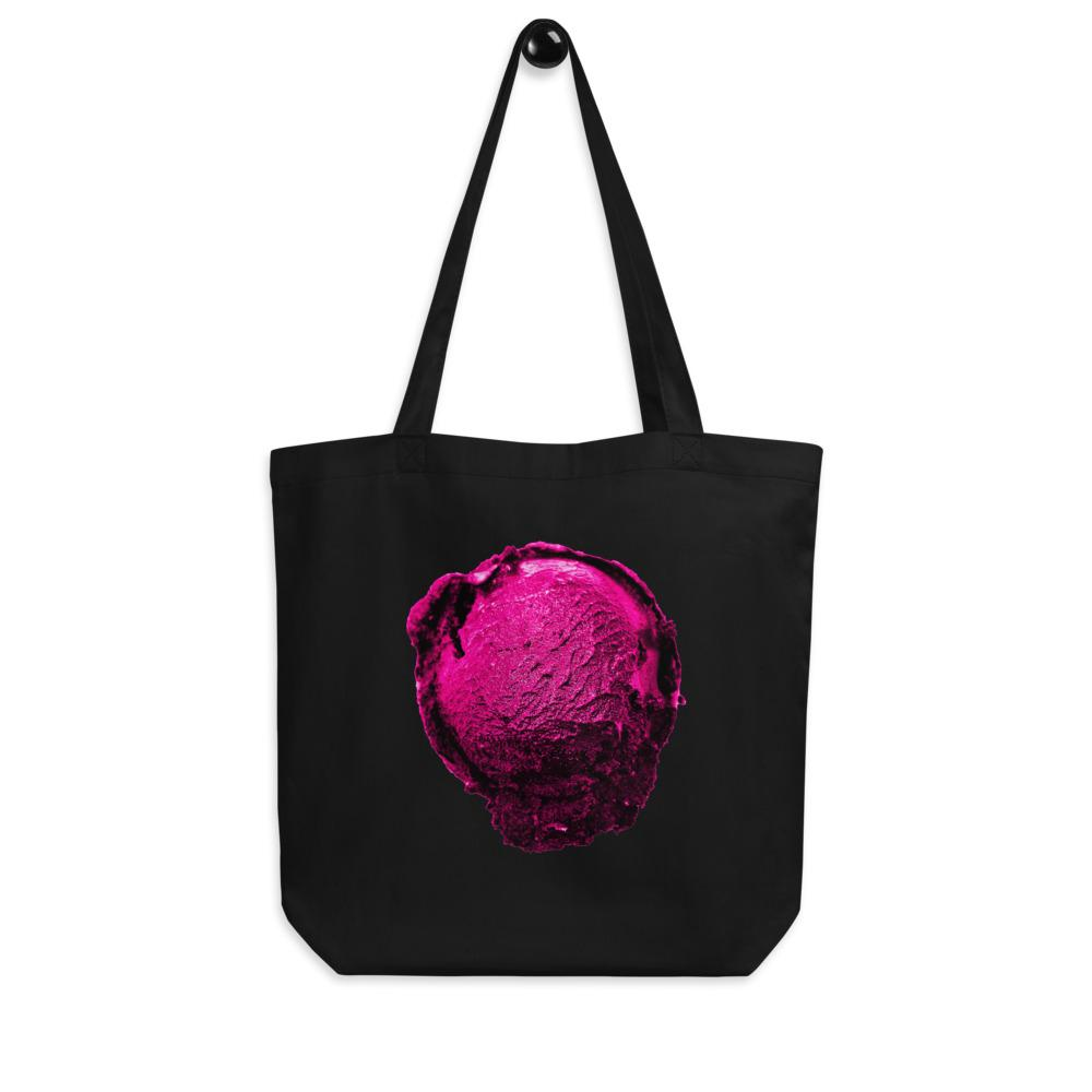 Eco Tote Bag - Ice Cream Ball FIGHT - Pink Bubblegum Floss HABIT Black