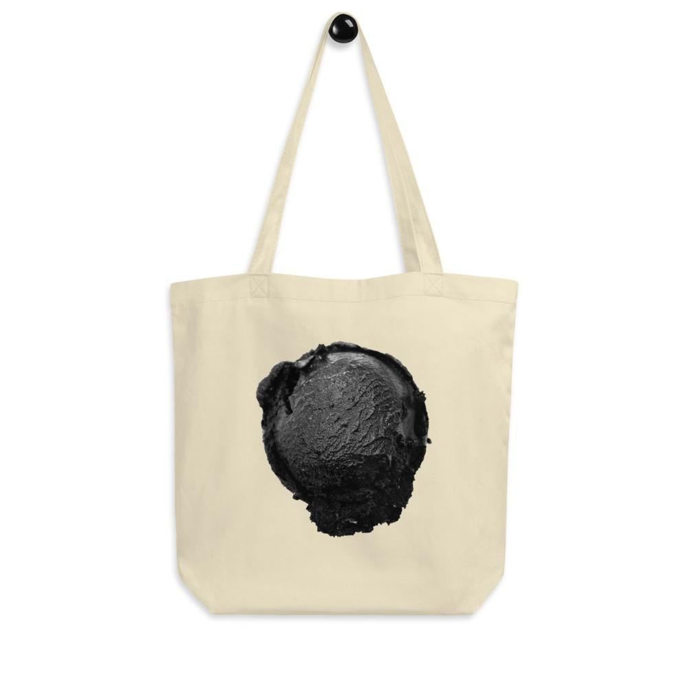 Eco Tote Bag - Ice Cream Ball FIGHT - Coconut Charcoal HABIT Oyster