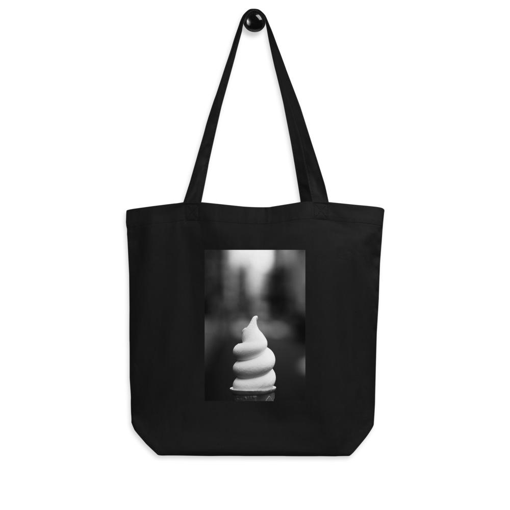 Eco Tote Bag - Ice Cream Swirl - Not So Vanilla HABIT Black