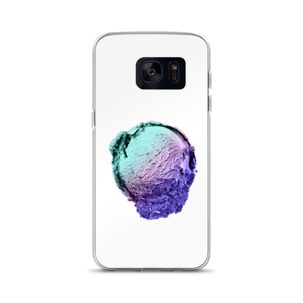 Samsung Case - Ice Cream Ball FIGHT - Spearmint Lavender Smear HABIT Samsung Galaxy S7