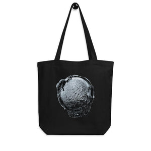 Eco Tote Bag - Ice Cream Ball FIGHT - Silver Snowflake HABIT Black