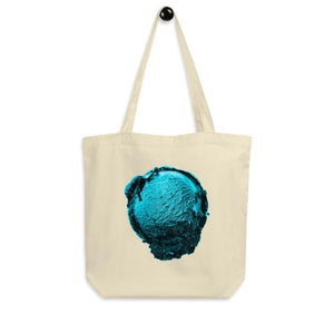 Eco Tote Bag - Ice Cream Ball FIGHT - Blue Mint Winter Wonderland HABIT Oyster