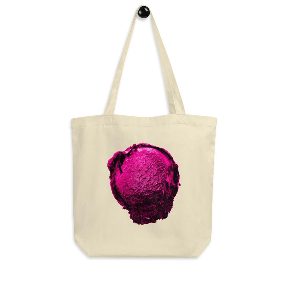 Eco Tote Bag - Ice Cream Ball FIGHT - Pink Bubblegum Floss HABIT Oyster