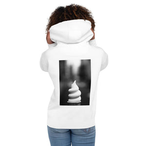 Unisex Hoodie - Ice Cream Swirl - Not-So-Vanilla HABIT White S