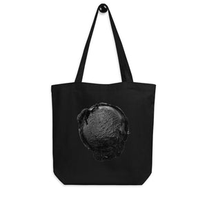 Eco Tote Bag - Ice Cream Ball FIGHT - Coconut Charcoal HABIT Black