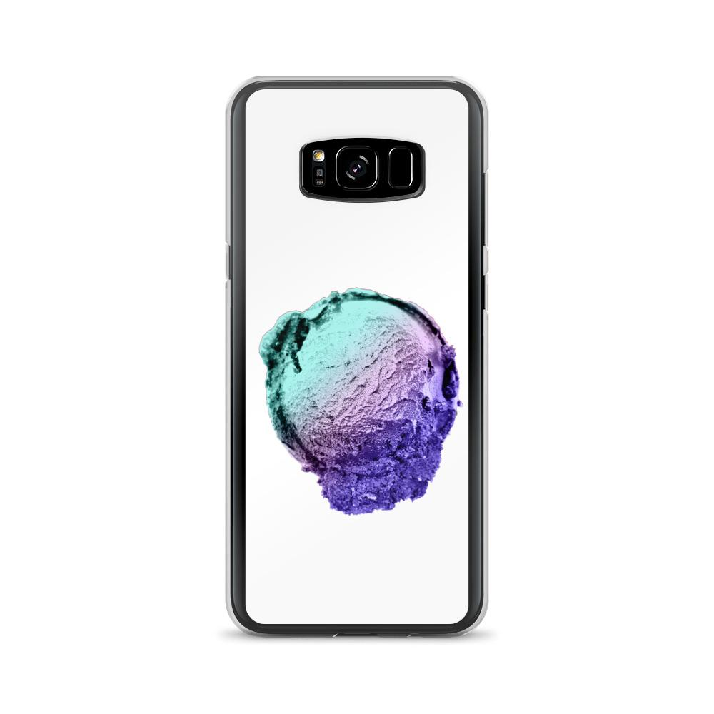 Samsung Case - Ice Cream Ball FIGHT - Spearmint Lavender Smear HABIT Samsung Galaxy S8+