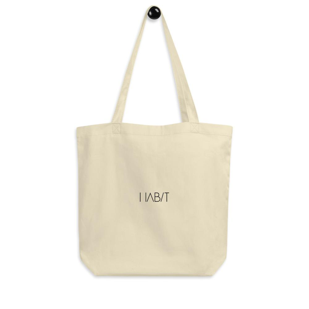Eco Tote Bag - Ice Cream Ball FIGHT - Spearmint Lavender Smear HABIT