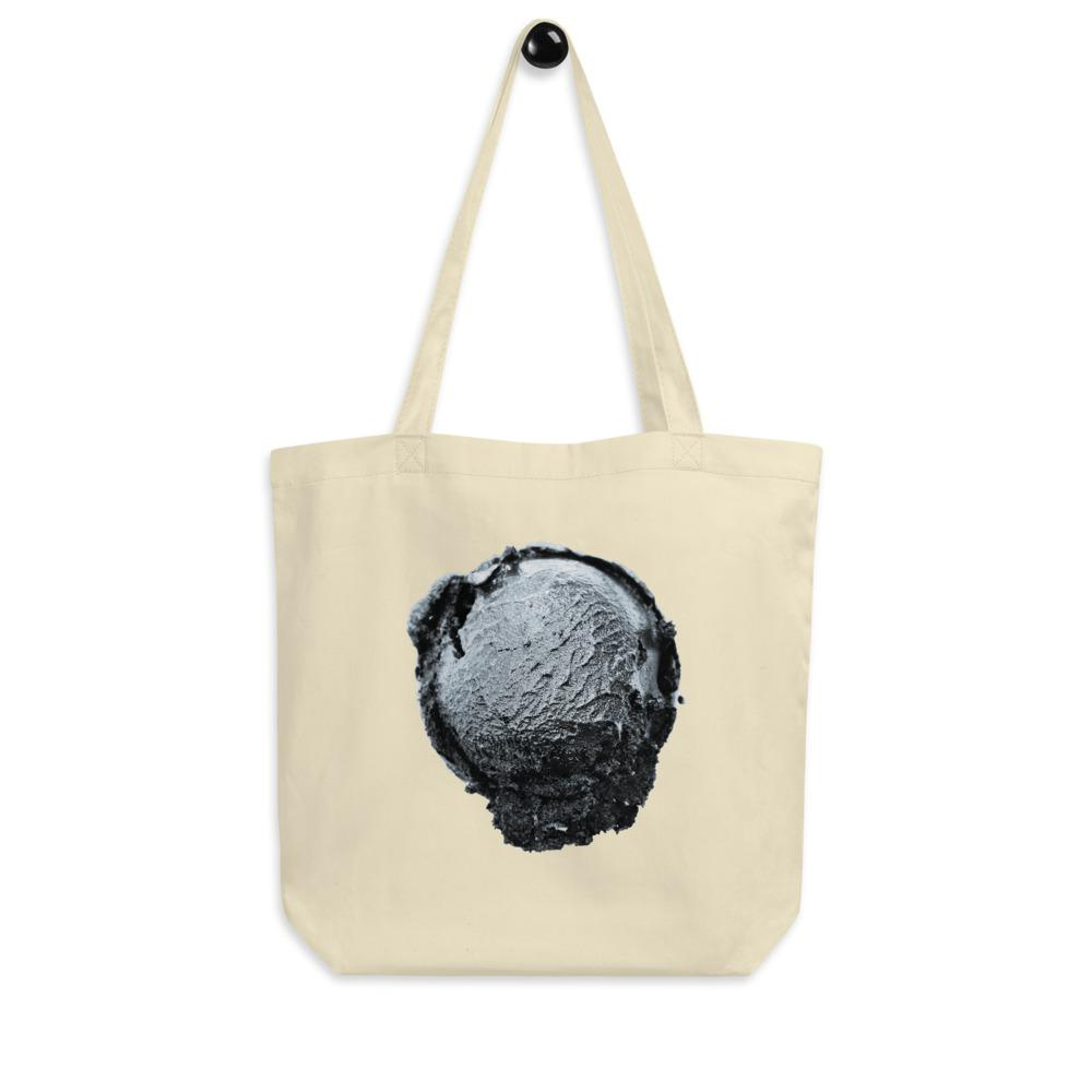 Eco Tote Bag - Ice Cream Ball FIGHT - Silver Snowflake HABIT Oyster