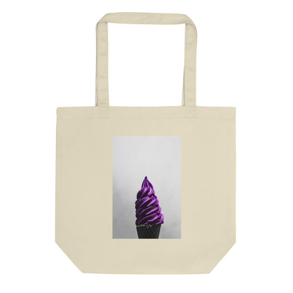 Eco Tote Bag - Ice Cream Swirl - Doesn't-Look-Real Purple Ube HABIT Oyster