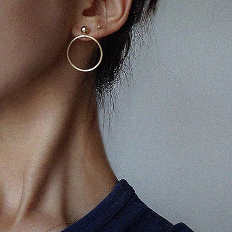 The Just Right Super Kewl Circle Stud Earrings HABIT