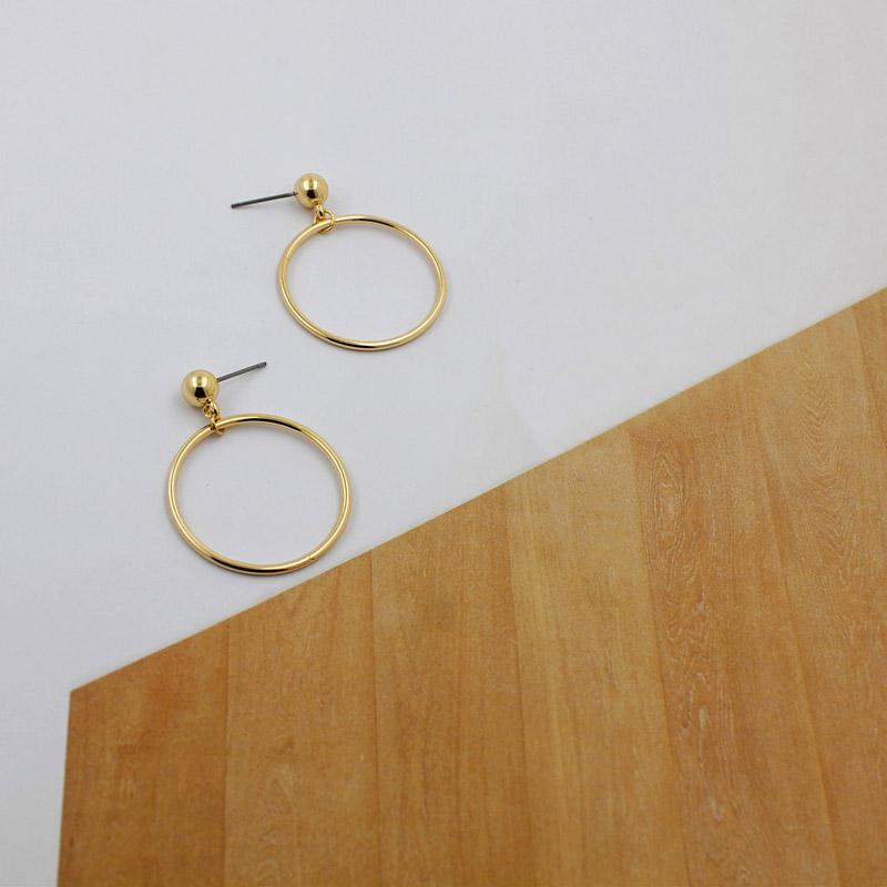 The Just Right Super Kewl Circle Stud Earrings HABIT Gold