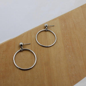 The Just Right Super Kewl Circle Stud Earrings HABIT Silver