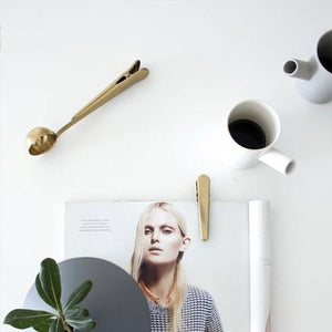 The All-Too-Cool Nordic Inspired Super 2-in-1 Stainless Steel Spoon and Clip Coffee Scoops eTya shop Store