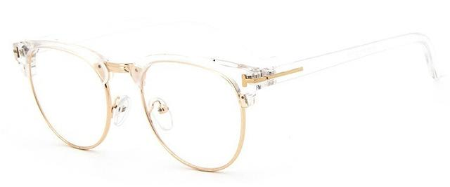 The Halfsies Retro Cat Eyeglasses For Women's Women's Eyewear Frames SHENZHEN BO SHI TONG transparent gold