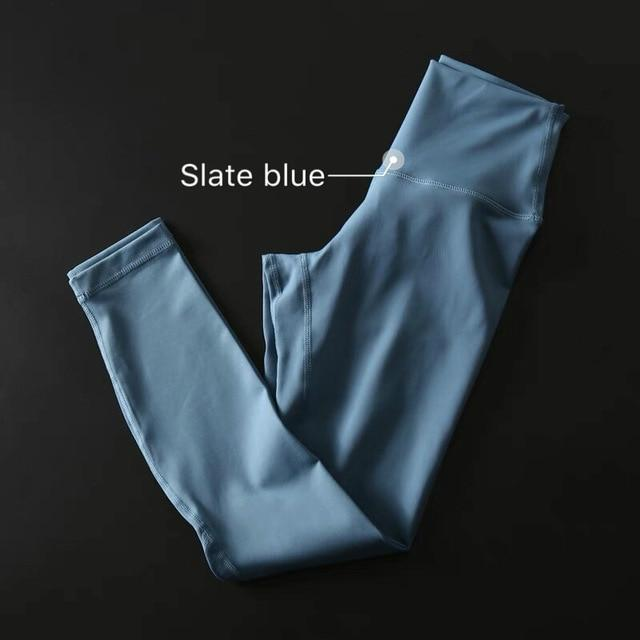 The Secret Secure Card Keeper Anti-Sweat High-Compression Slimming Yoga & Gym Leggings Yoga Pants COLORVALUE Official Store Slate Blue XS