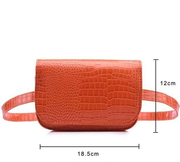 Vintage Alligator Waist Bag Waist Packs DBFashion Store Orange (Big)
