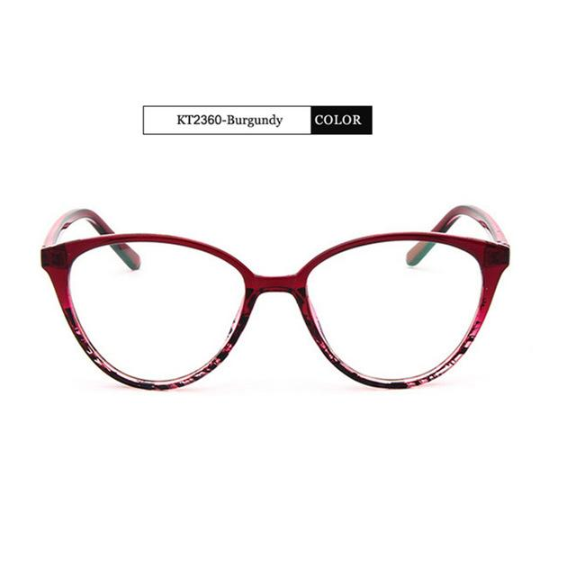 The Transparent Flower Child Retro Cat Eyeglasses Frames Men's Eyewear Frames KOTTDO Official Store