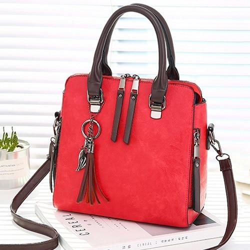 The Boston Private Investigator Vintage Crossbody Shoulder Messenger Handbag Shoulder Bags Yogodlns Outlets Store Wine Red