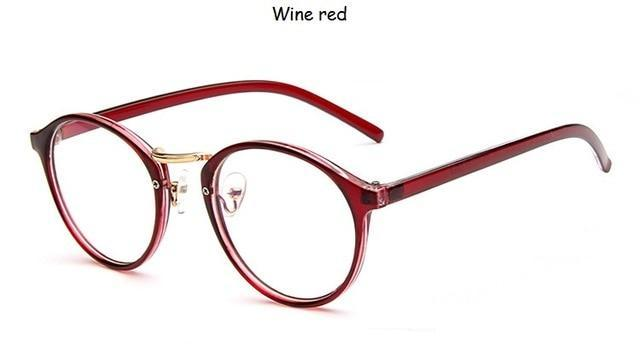 The One and Only Classic Transparent Round Glasses Frames Women's Eyewear Frames SHENZHEN BO SHI TONG Wine Red