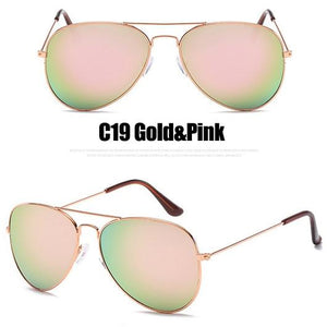 The Outdoor Lover Luxe Pilot Mirror Unisex Eyewear Women's Sunglasses LeonLion Store C19 Gold Pink
