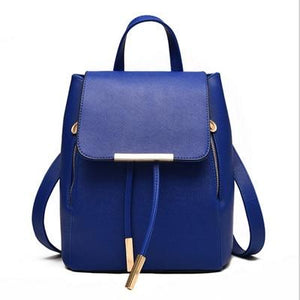 The Minimal School Rucksack Backpack Backpacks Rusoonnic Store Deep Blue