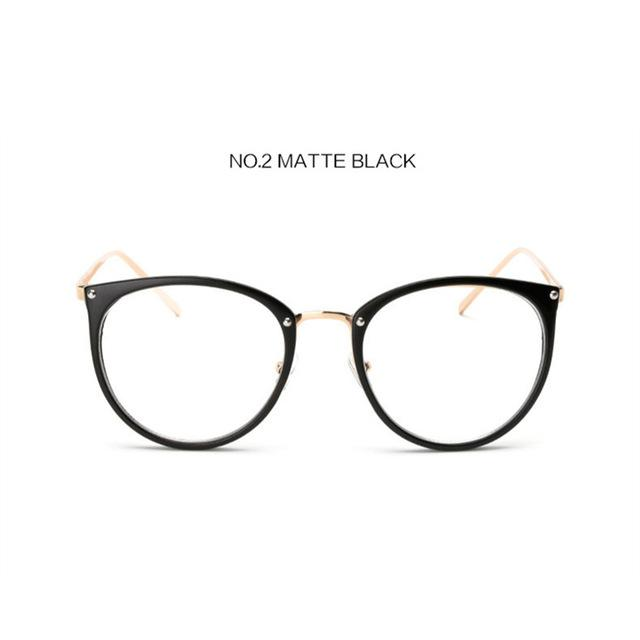 The Kaleidoscope Oversized Cat Eye Glasses Frames Women's Eyewear Frames Kaleidoscope Store Matte Black
