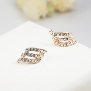 The Hypnotic Bling Ultimate Bejeweled Party Evening Wear Stud Earrings Collection Stud Earrings Fitable Trendy Store Gold Bling Ear Curl